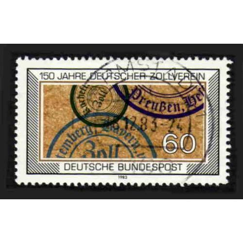 German Used Scott #1407 Catalog Value $.30