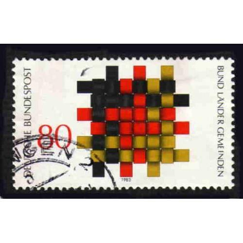 German Used Scott #1408 Catalog Value $.45