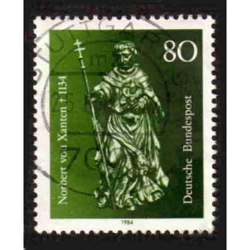 German Used Scott #1418 Catalog Value $.45