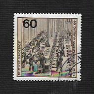 German Used Scott #1420a Catalog Value $.75