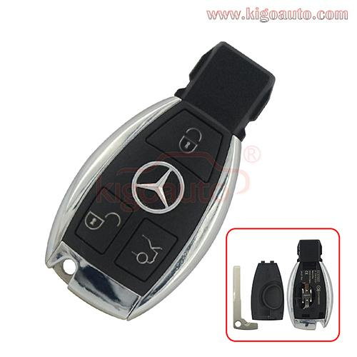 Smart key case 3 button with battery holder for Mercedes Benz