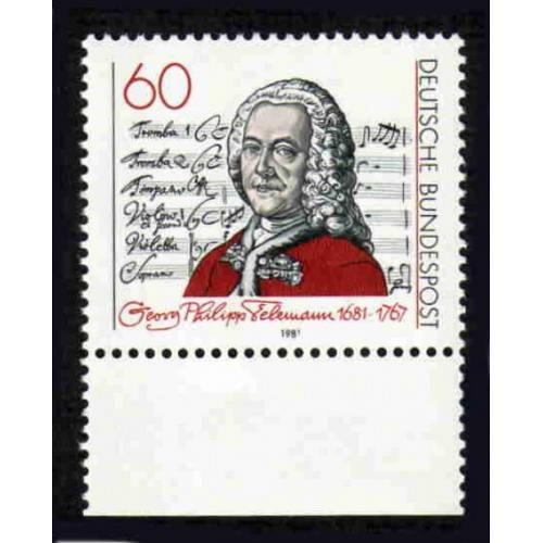 German MNH Scott #1344 Catalog Value $.75