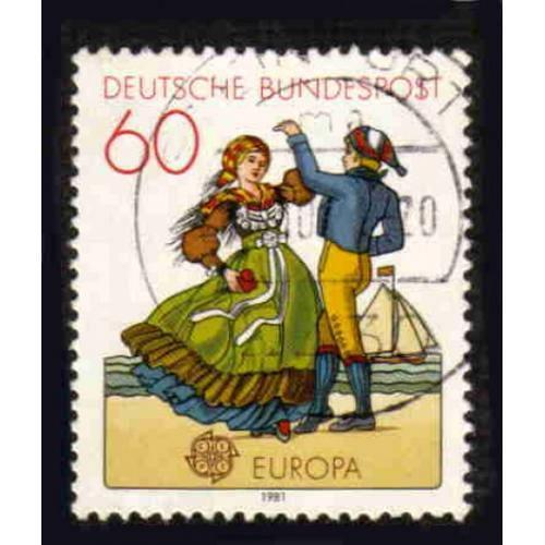 German Used Scott #1350 Catalog Value $.25