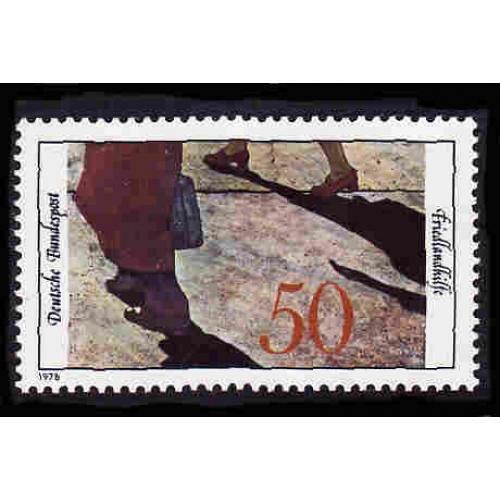 German MNH Scott #1266 Catalog Value $.60