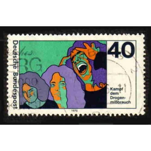 German Used Scott #1200 Catalog Value $.30