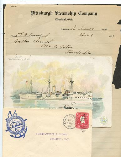 - Nautical-Related Themes -19 Envelopes & Misc - 1850 - See Scans