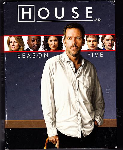 House - Season 5 DVD 2009, 5-Disc Set - Very Good
