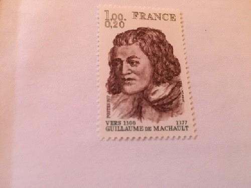 France Famous G. de Machault poet 1977 mnh