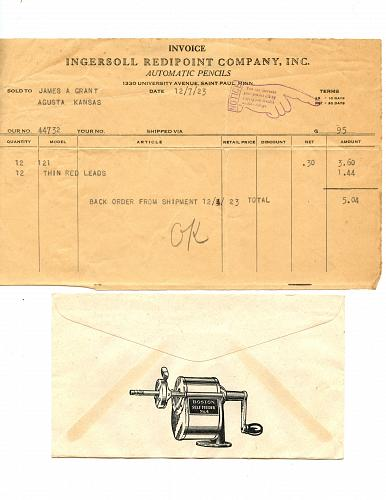 LISTING CLOSED - SOLD Pencils & Related From 1880s - 1950s