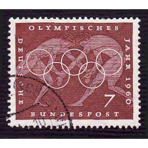 German Used Scott #813 Catalog Value $.25