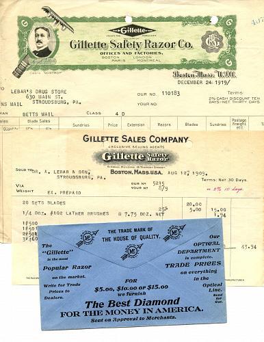 - Razors - Barbers - Cutlery - 1900s - 1960