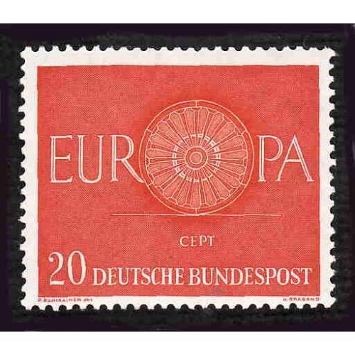 German MNH Scott #819 Catalog Value $.75