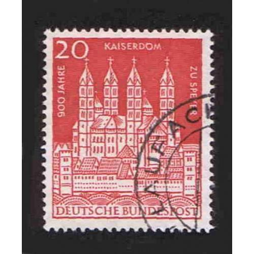 German Used Scott #843 Catalog Value $.45