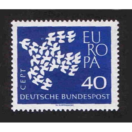 German MNH Scott #845 Catalog Value $.35