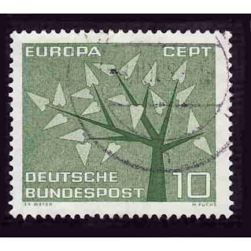 German Used Scott #852 Catalog Value $.25