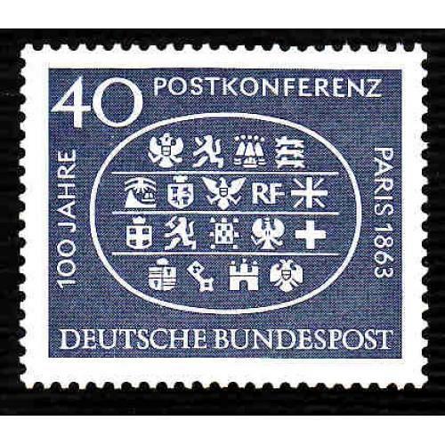German MNH Scott #863 Catalog Value $.40