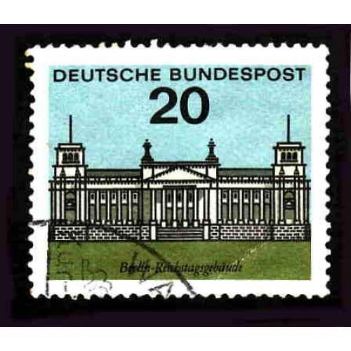 German Used Scott #874 Catalog Value $.30