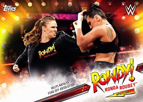Ronda Rousey #9 - WWE Topps 2019 Wrestling Trading Card