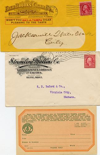 Tobacco - Related -1880s- All Envelopes Complete
