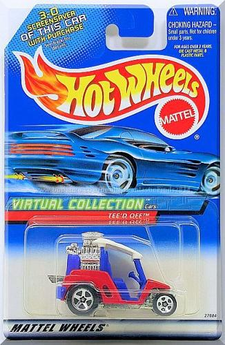 Hot Wheels - Tee'd Off: Virtual Collection Cars - Collector #117 (2000) *Red*