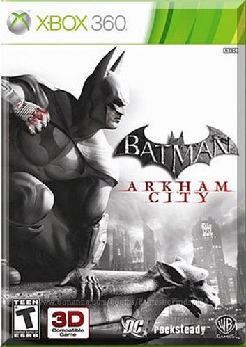 XBOX 360 - Batman: Arkham City (2011) *Complete w/Case & Game Disc / DC Comics*