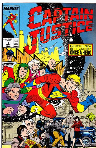 Captain Justice MAR #1 - Marvel 1988 Comic Book - Good