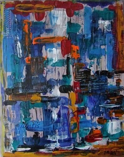 J. M. Iantis Contemporary Art Original Acrylic Painting Abstract Modern Palette Knife