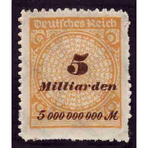 German MNH Scott #307 Catalog Value $2.07
