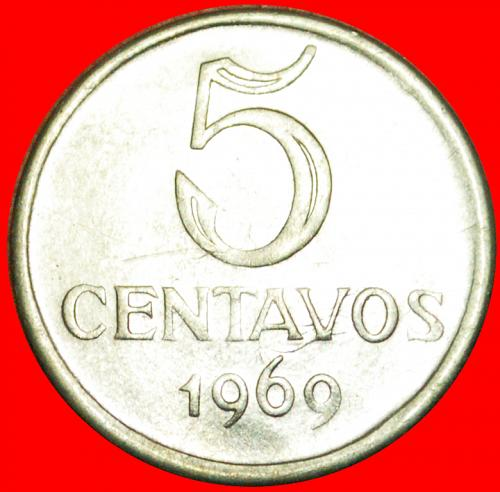 + EFFIGY: BRAZIL ★ 5 CENTAVOS 1969! LOW START★NO RESERVE!