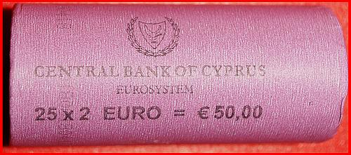 # GREECE: CYPRUS ★ ROLL 2 EURO 2018 = 25 COINS! LOW START ★ NO RESERVE!