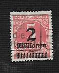 German Used Scott #278 Catalog Value $9.00