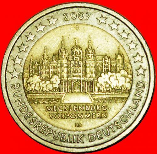 + MECKLENBURG-VORPOMMERN: GERMANY ★ 2 EURO 2007D! LOW START ★ NO RESERVE!