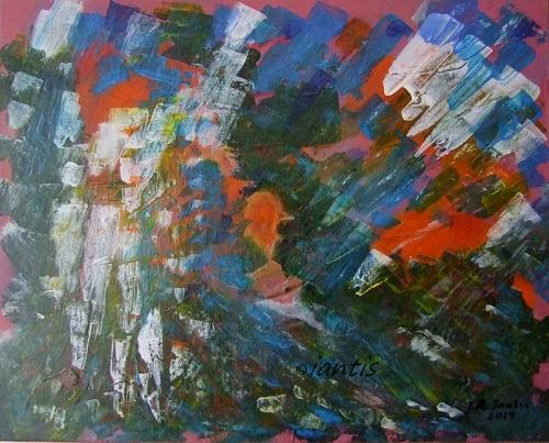 J.M. Iantis The Winner Abstract Original Acrylic Painting Surrealism Contemporary Art