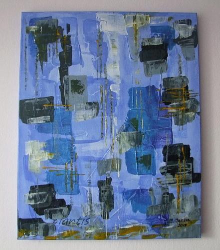 J. M. Iantis Abstract Original Acrylic Painting Modern Art Contemporary Palette Knife