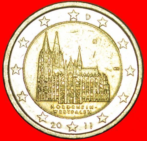 + NORTH RHINE-WESTPHALIA: GERMANY ★ 2 EURO 2011D! LOW START ★ NO RESERVE!
