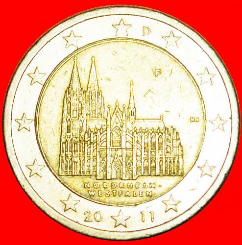 + NORTH RHINE-WESTPHALIA: GERMANY ★ 2 EURO 2011F! LOW START ★ NO RESERVE!