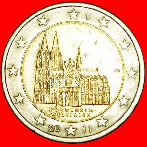 + NORTH RHINE-WESTPHALIA: GERMANY ★ 2 EURO 2011J! LOW START ★ NO RESERVE!