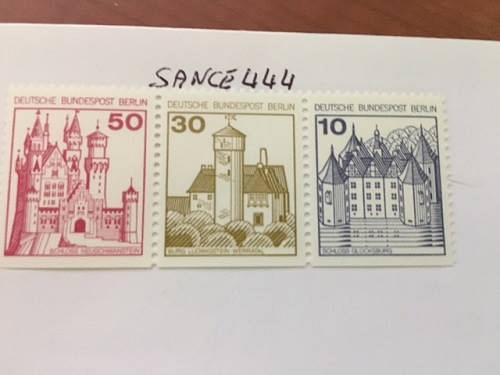 Berlin Castle strip 50+30+10 bottom imperf. mnh 1977