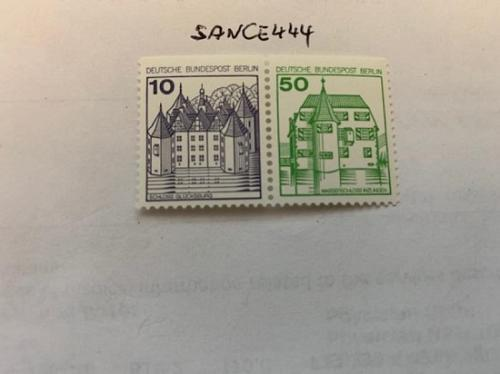Berlin Castle 10+50p top imperf. dual mnh 1980