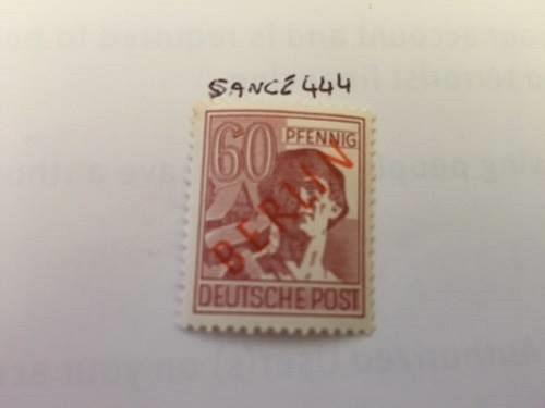 Germany Berlin Red Overp. mnh 1949 #1