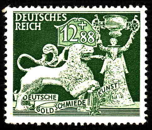 German Hinged Scott #B207 Catalog Value $.45