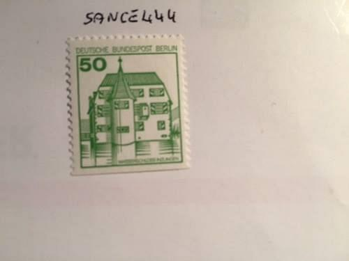 Berlin Definitives Castles 50p imperf. bottom mnh 1978 #2