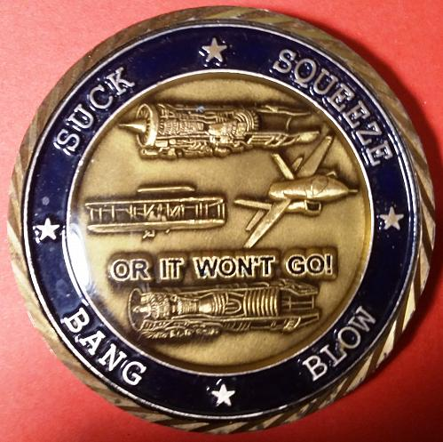 USAF Challenge Coin Directorate Propulsion Product Group LR - Tinker, AFB