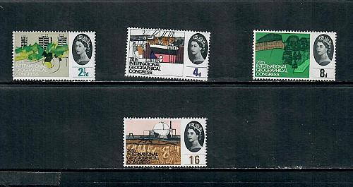1964 COMMEMORATIVE SET ,INTERNATIONAL GEOGRAPHIC CONFERENCE MINT HINGED 170519