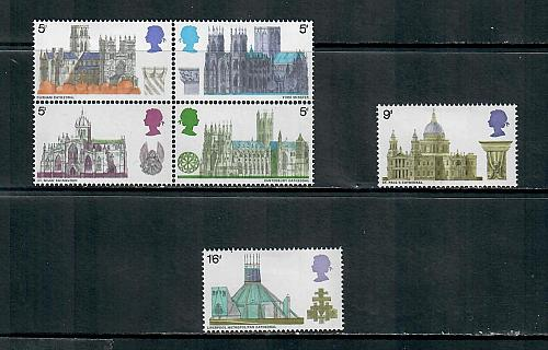 1968 COMMEMORATIVE SET CATHEDRALS ISSUE, MOUNTED MINT, 170519