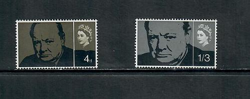 1965 COMMEMORATIVE SET ,CHURCHILL MINT HINGED, USED 170519