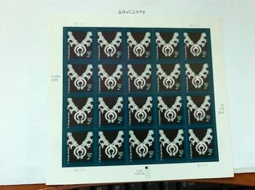 United States Navajo Jewelry sheet 2007 mnh