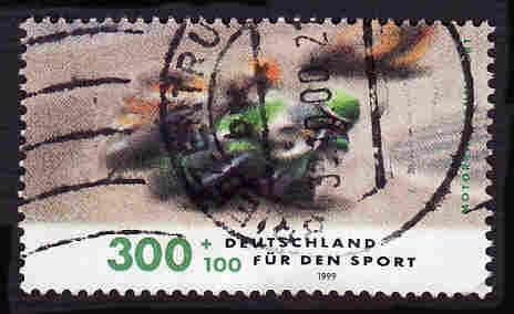 German Used Scott #B847 Catalog Value $4.25