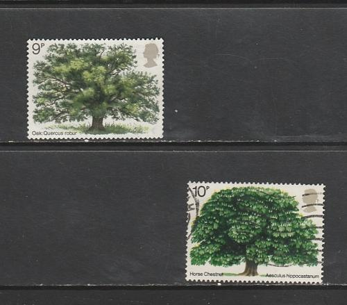 1973 COMMEMORATIVE SET TREES USED 270519