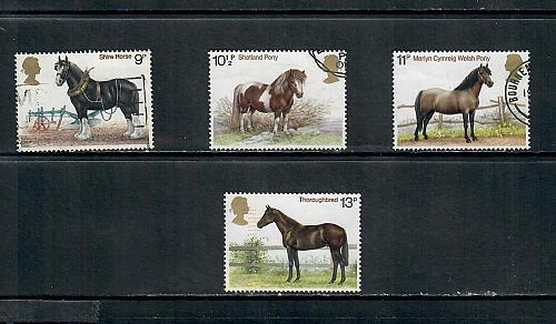 1978 COMMEMORATIVE SET HORSES USED 270519
